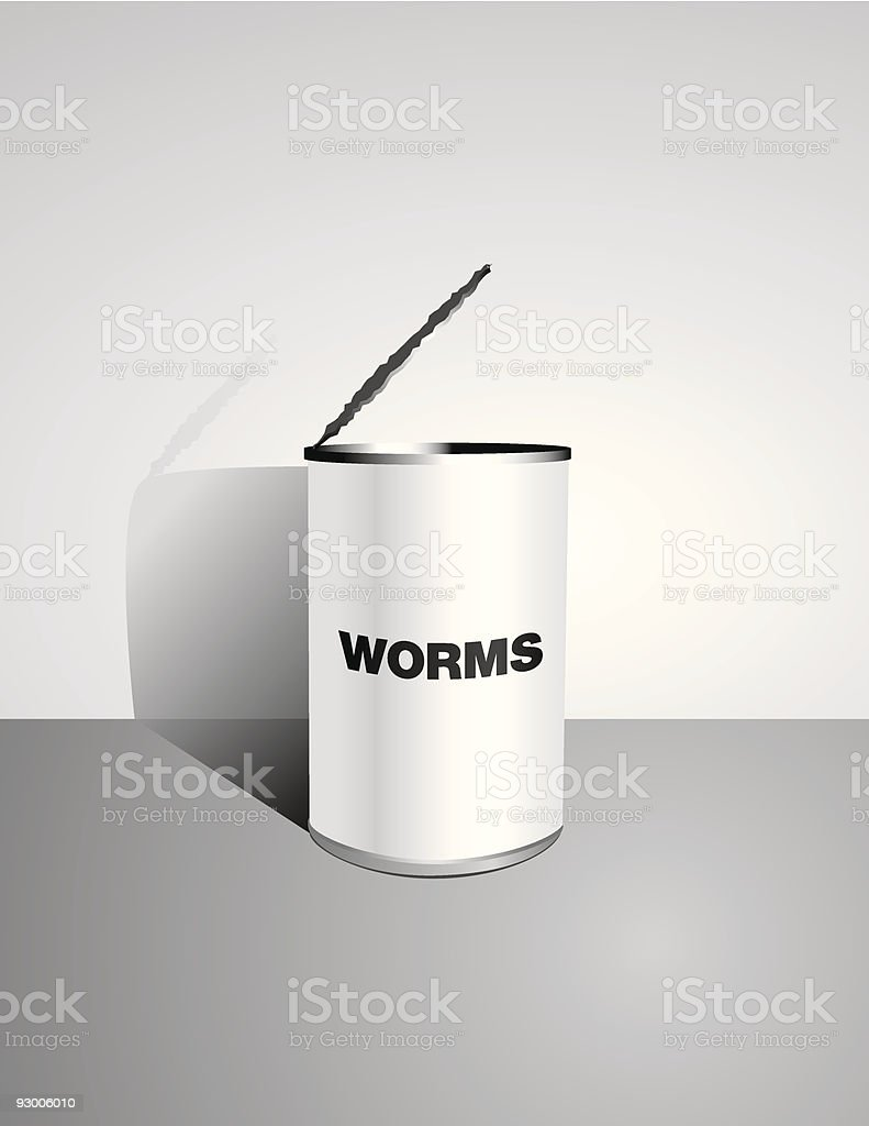 Opening Up a Can of Worms - Vector royalty-free stock vector art