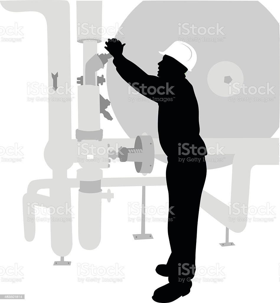 Opening Valve vector art illustration