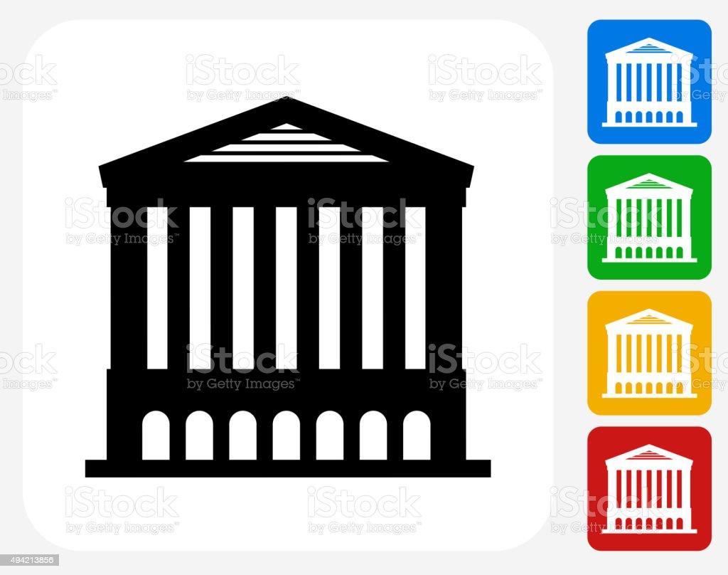 Opera House Icon Flat Graphic Design vector art illustration