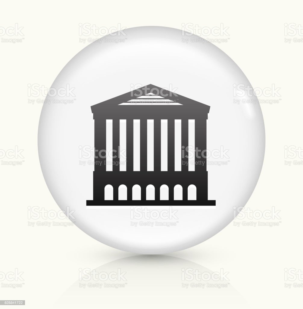 Opera House icon on white round vector button vector art illustration