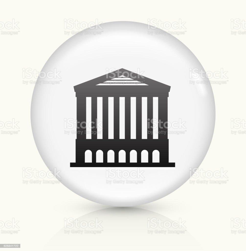 Opera House icon on white round vector button vector art illustration