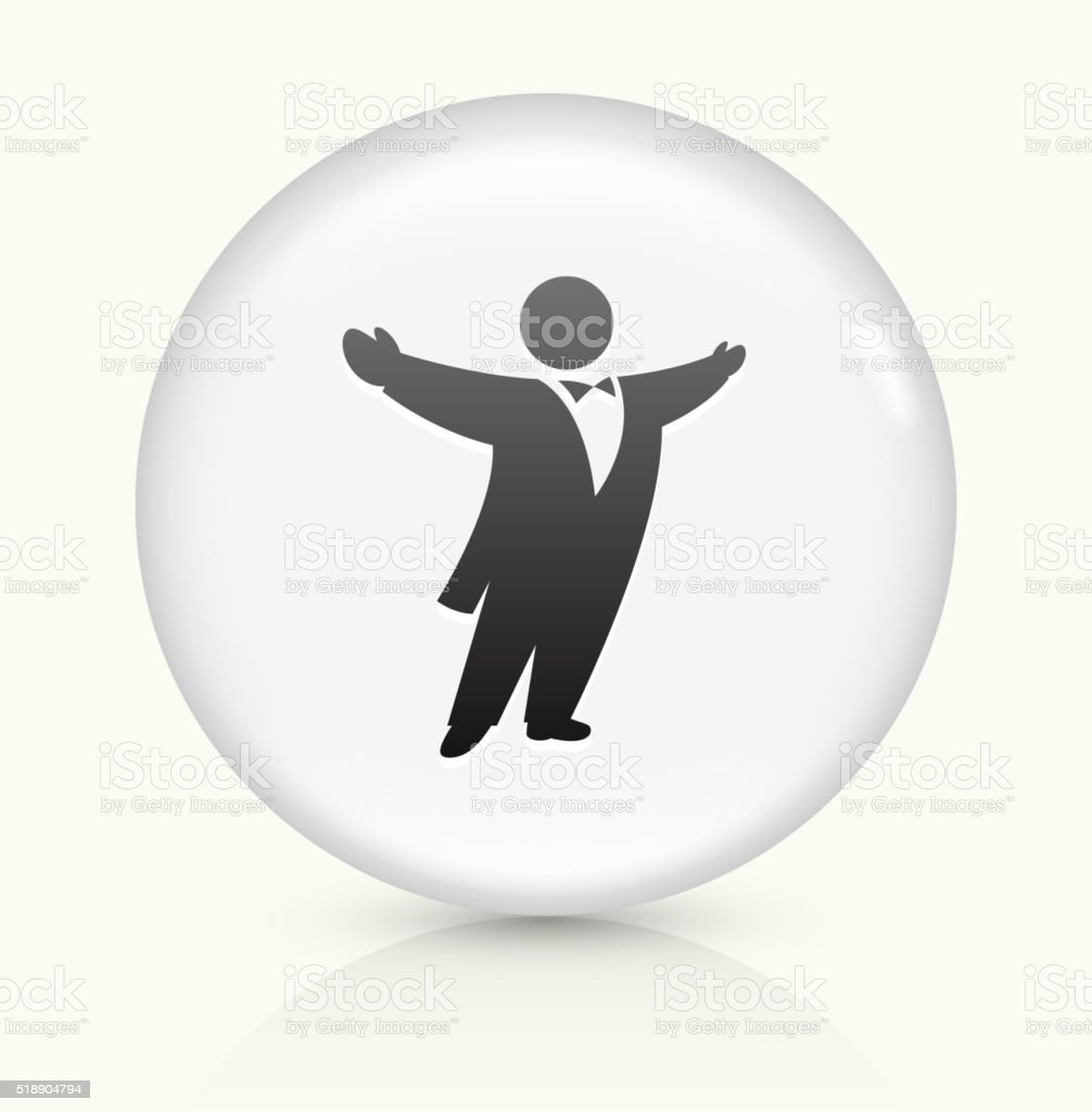 Opera Singer icon on white round vector button vector art illustration