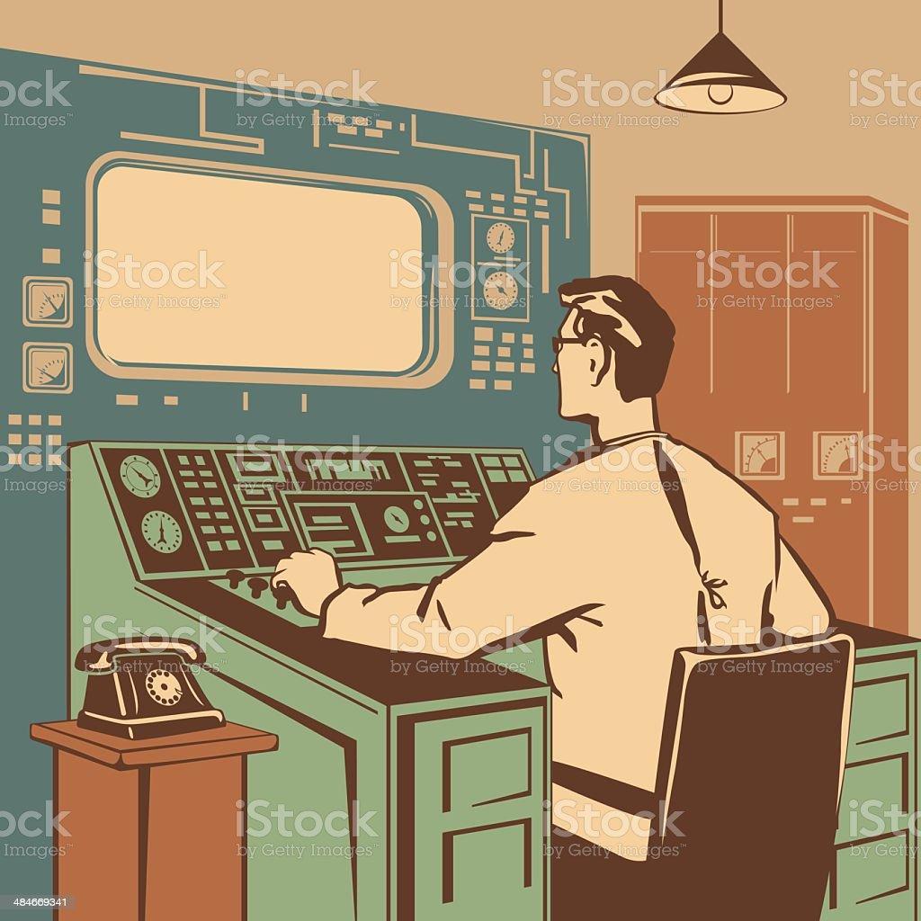 Operator vector art illustration