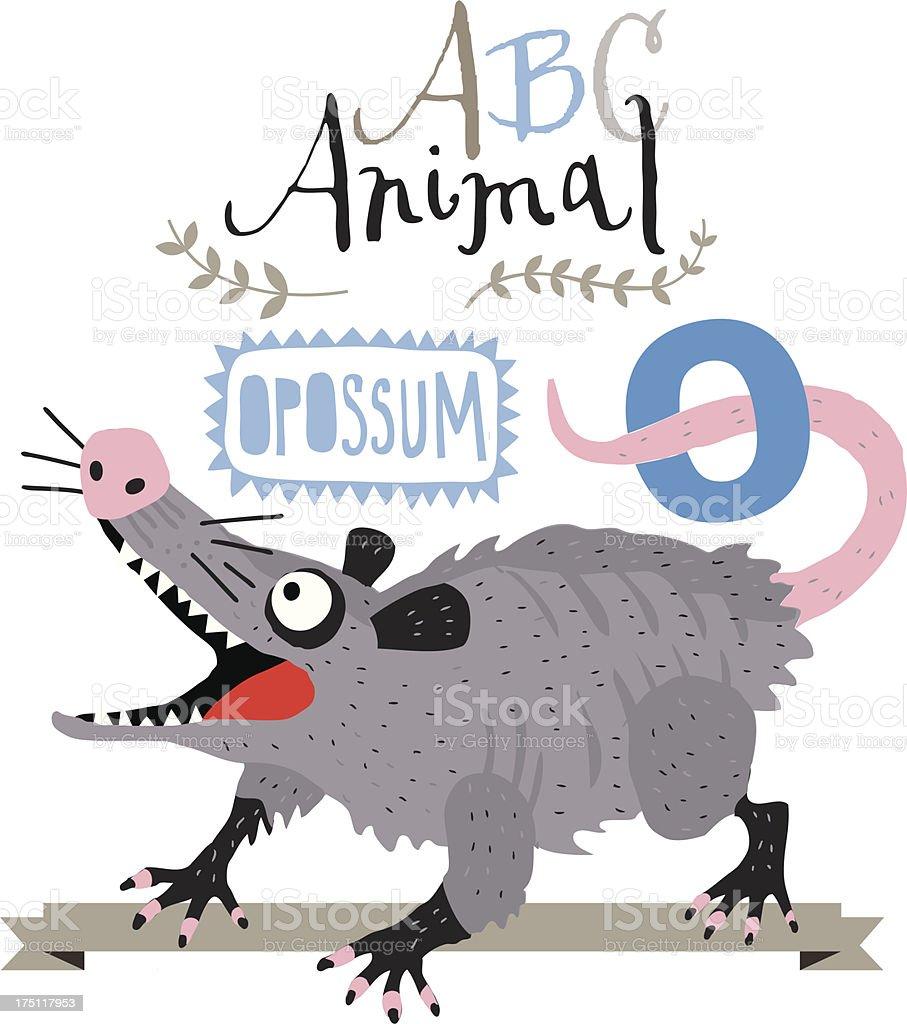 ABC Opossum royalty-free stock vector art