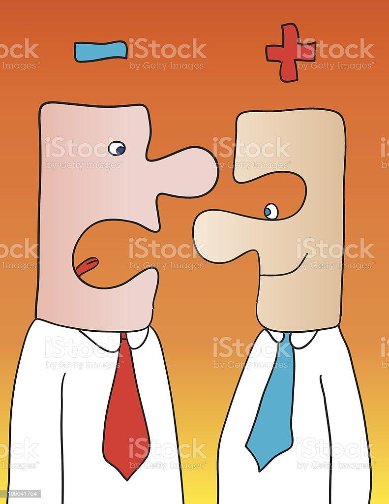 opposites vector art illustration