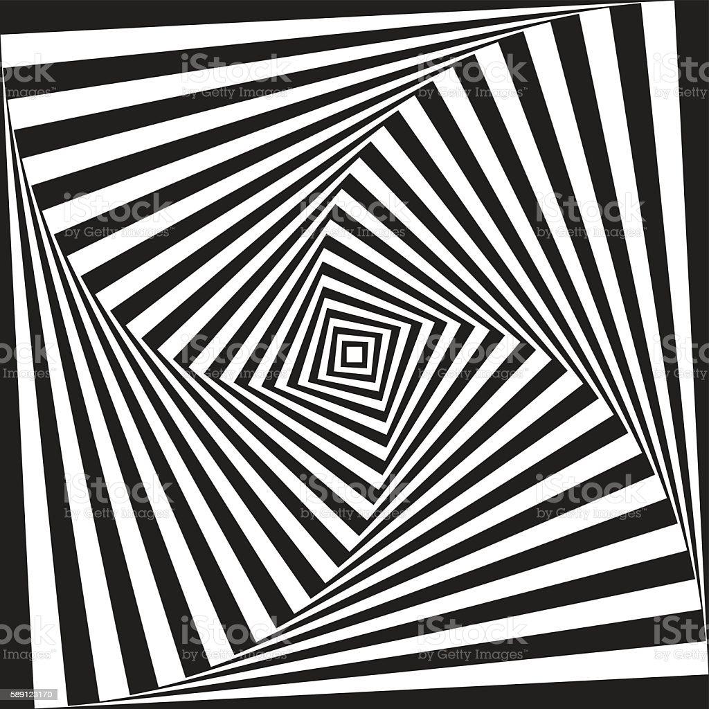 Optical illusion background vector art illustration