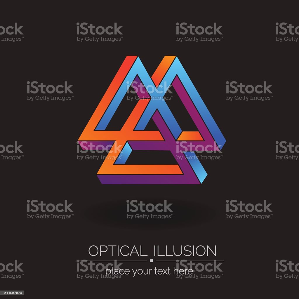 Optical illusion series. vector art illustration