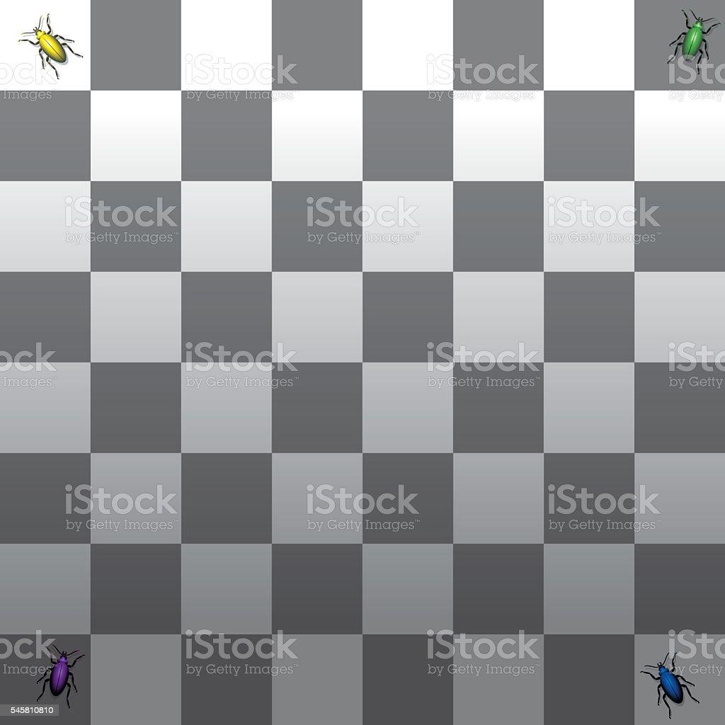 Optical Illusion Shadow Gray Scale Checkerboard vector art illustration