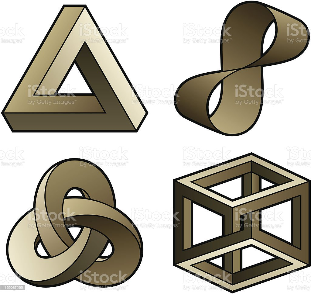 Optical puzzles vector art illustration
