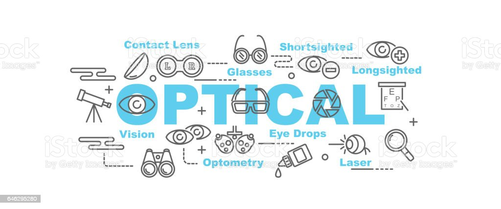 optical vector banner vector art illustration
