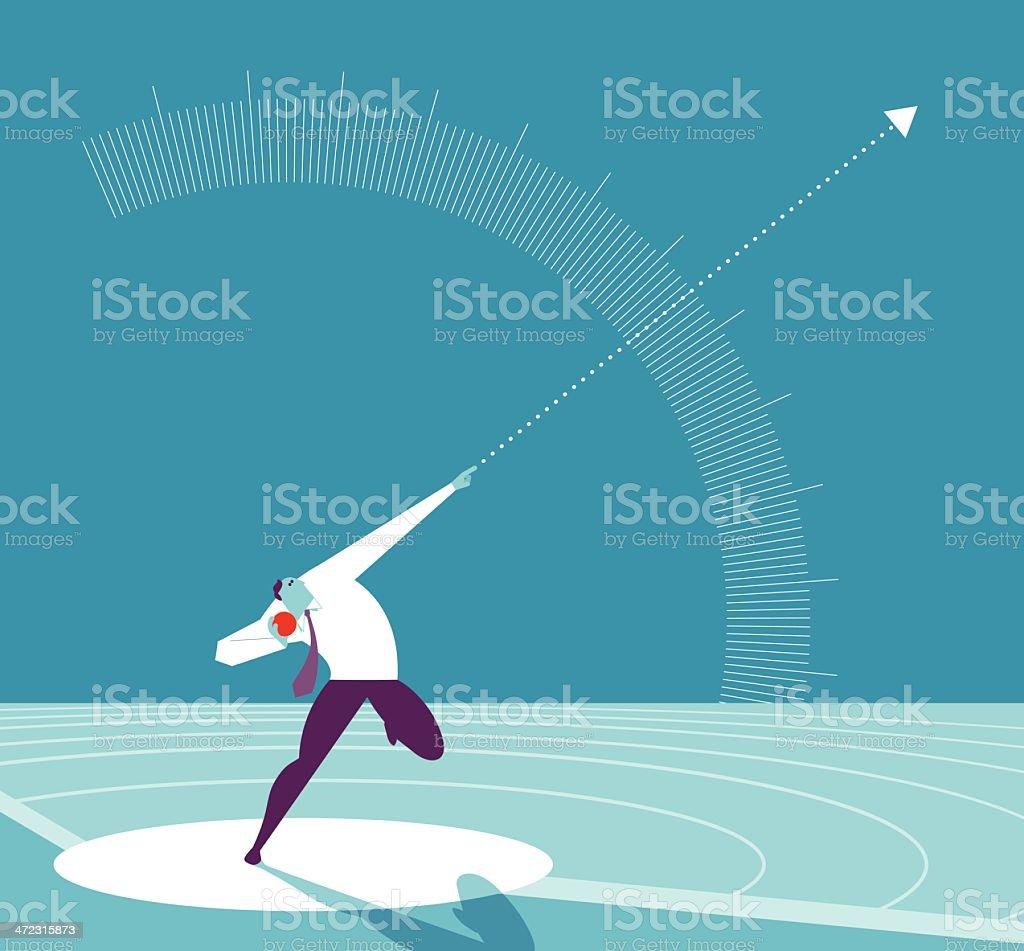 Optimal angle position royalty-free stock vector art