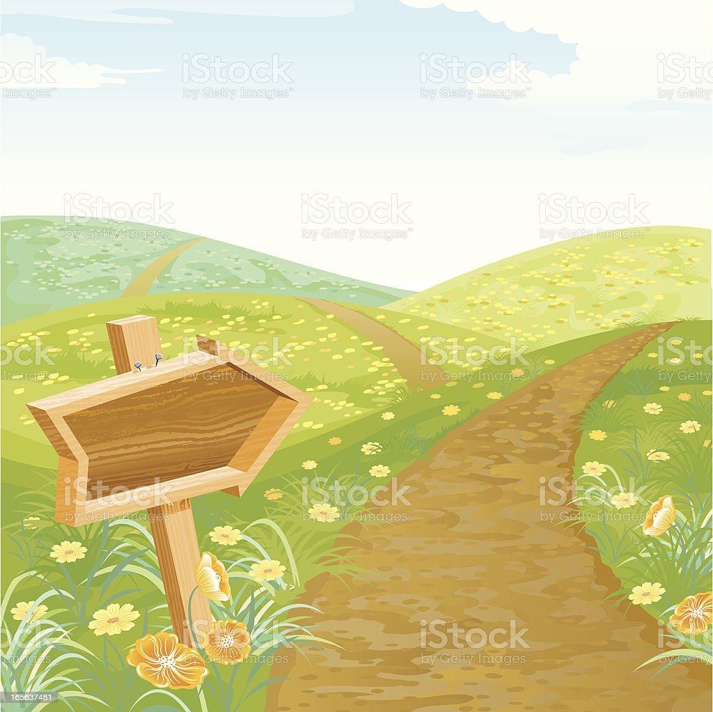 Optimistic Trail vector art illustration