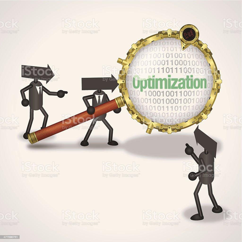 Optimization royalty-free stock vector art