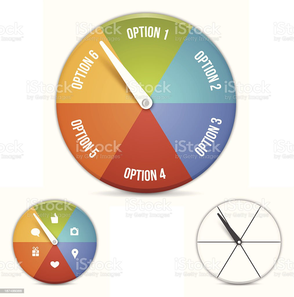 Option Choice Wheel vector art illustration