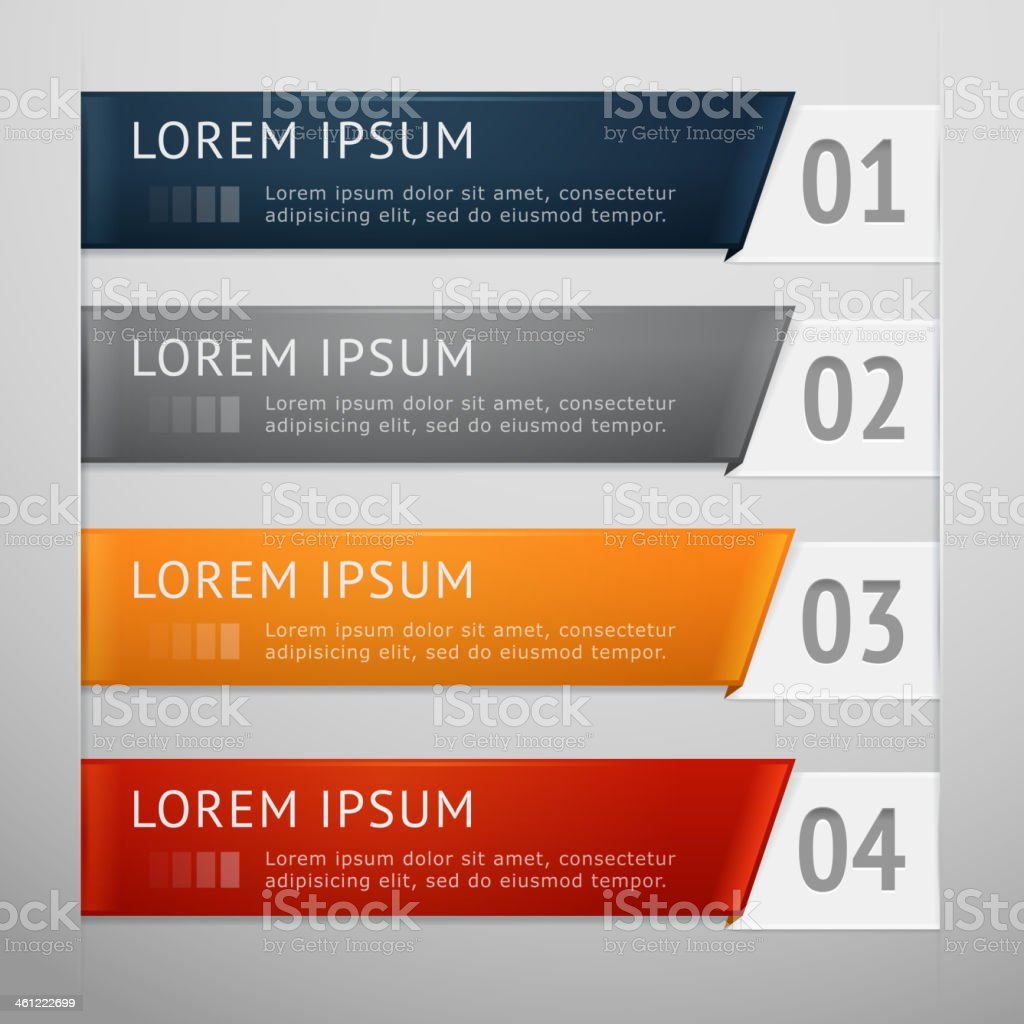 Option labels royalty-free stock vector art
