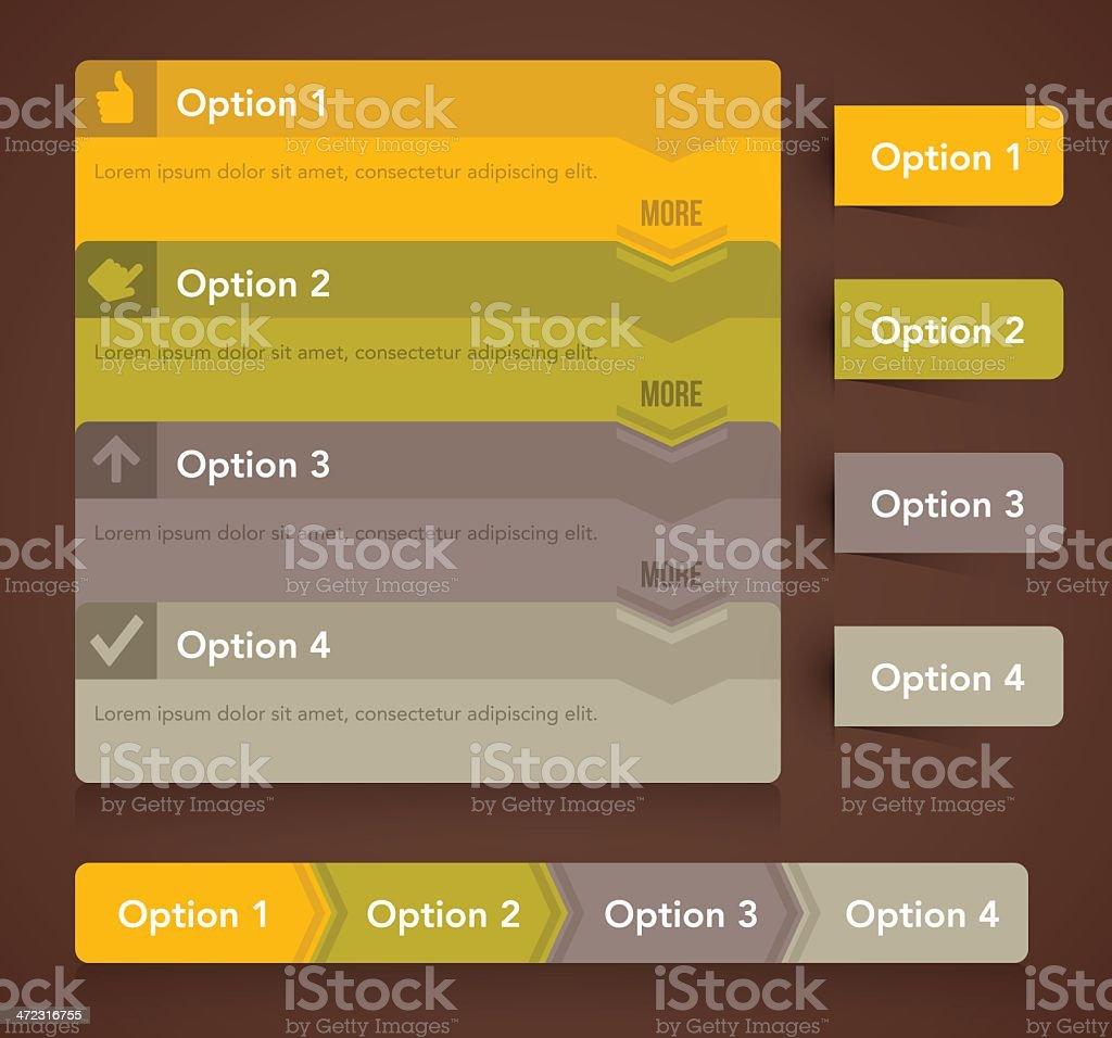 Option Menu Choices royalty-free stock vector art