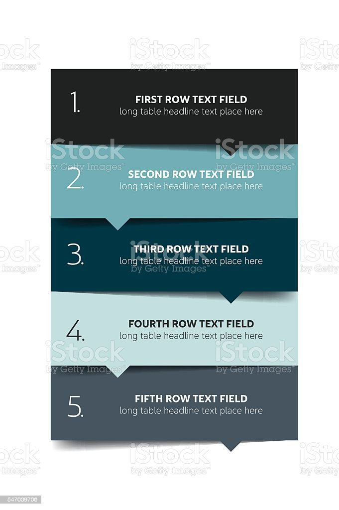 Option template, table, schedule, banner. Step by step infographic. royalty-free stock vector art