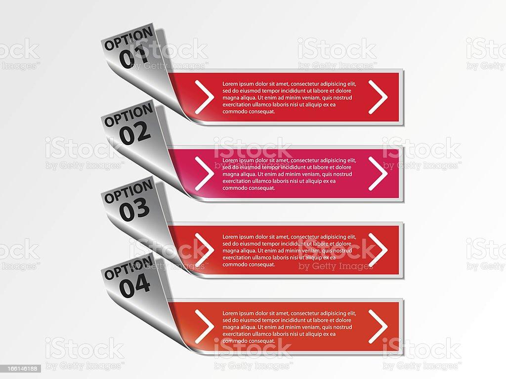 Options info graphics royalty-free stock vector art