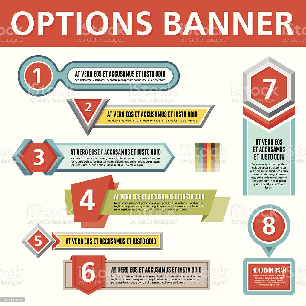 Options Vector Banners for Creative Infographics royalty-free stock vector art