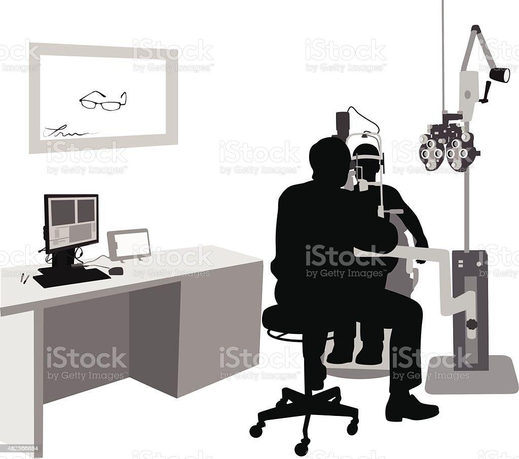 Optometrist At Work vector art illustration