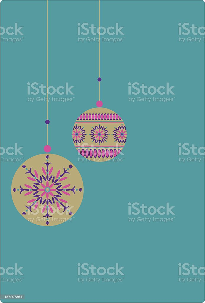 Opulent Hanging Christmas Baubles royalty-free stock vector art