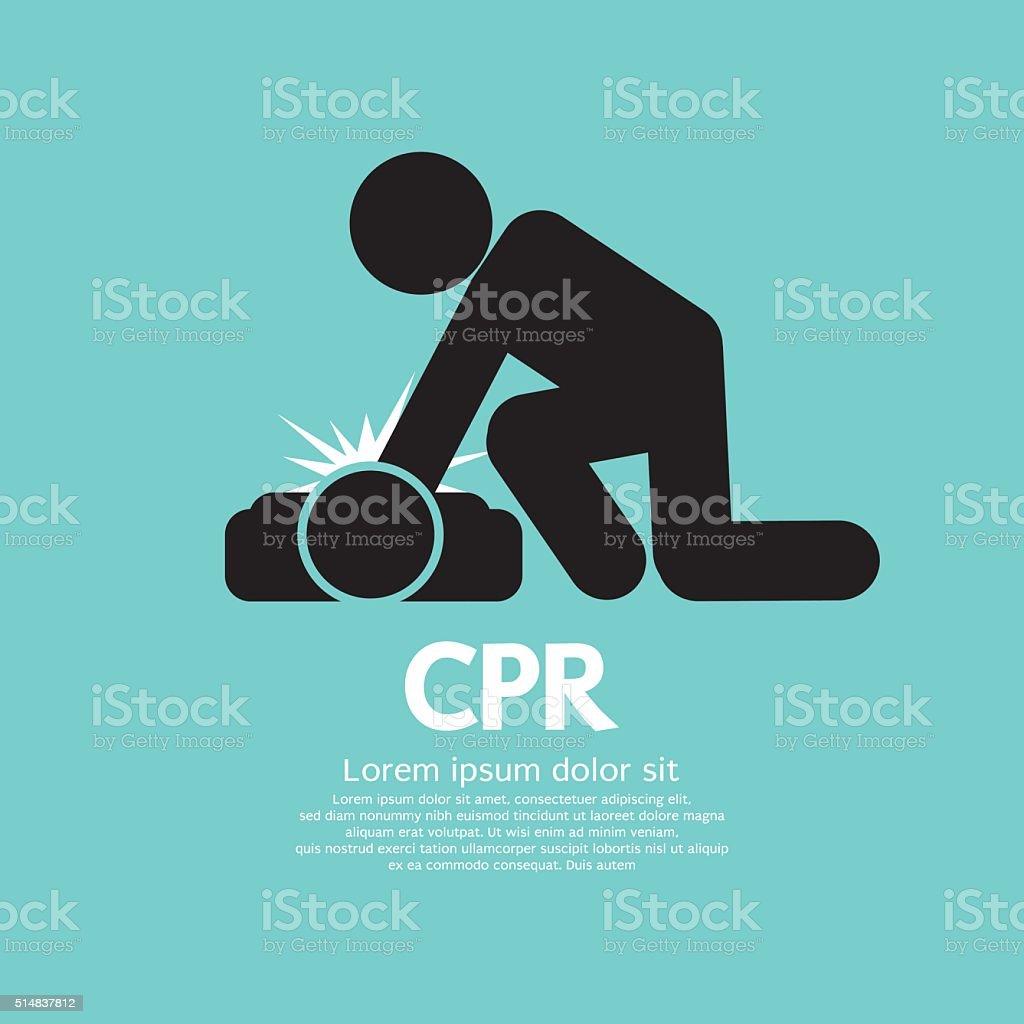 CPR Or Cardiopulmonary Resuscitation. vector art illustration