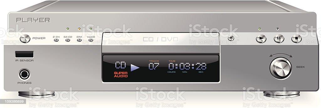 CD or DVD player vector art illustration