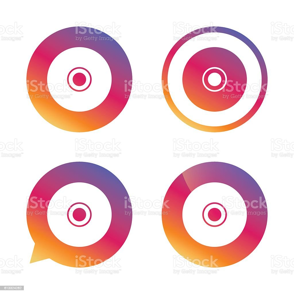 CD or DVD sign icon. Compact disc symbol. vector art illustration