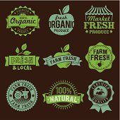 Oragnic, Natural, Farm, Local food labels