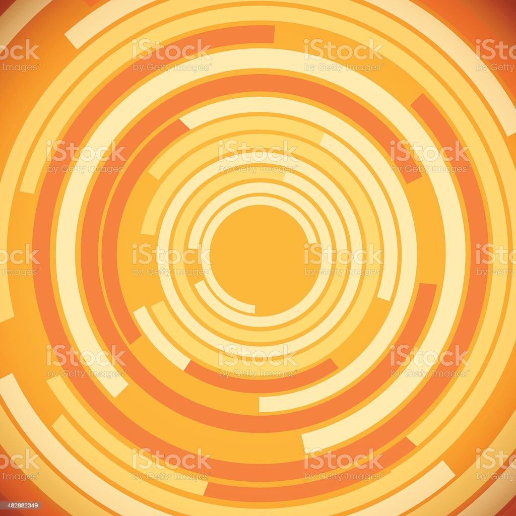 Orange Abstract Circles Background royalty-free stock vector art