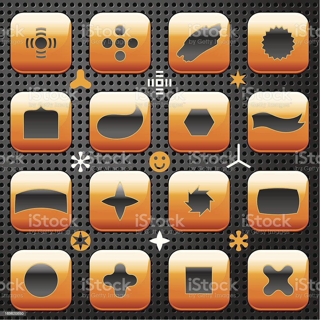 Orange Abstract Shapes royalty-free stock vector art
