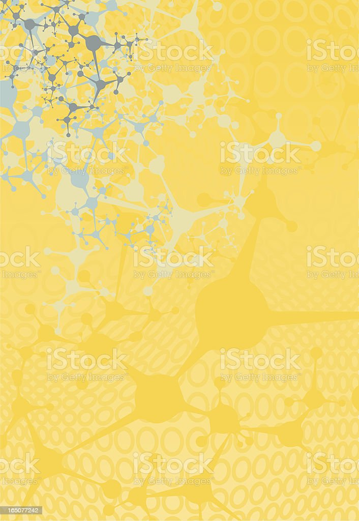 Orange and Blue Network Splatter Background royalty-free stock vector art