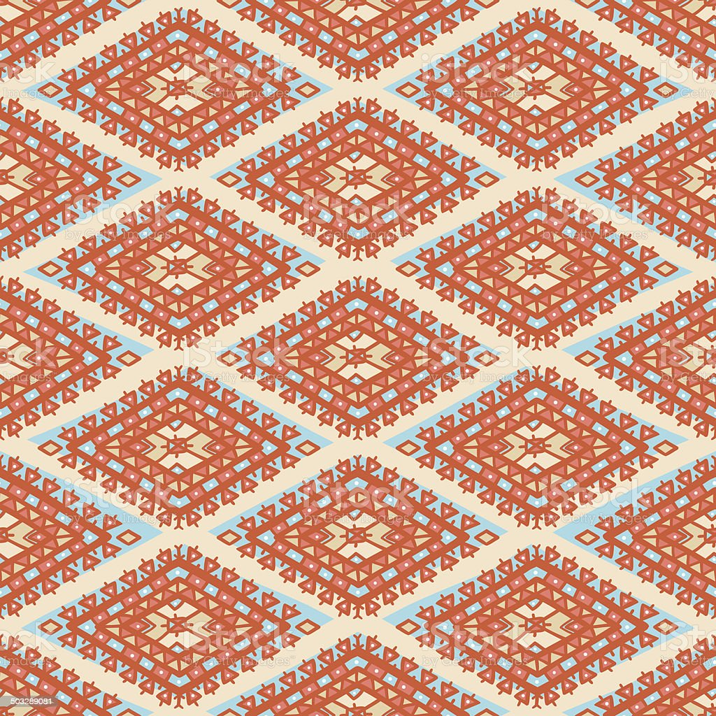 orange and blue rhombuses vector art illustration