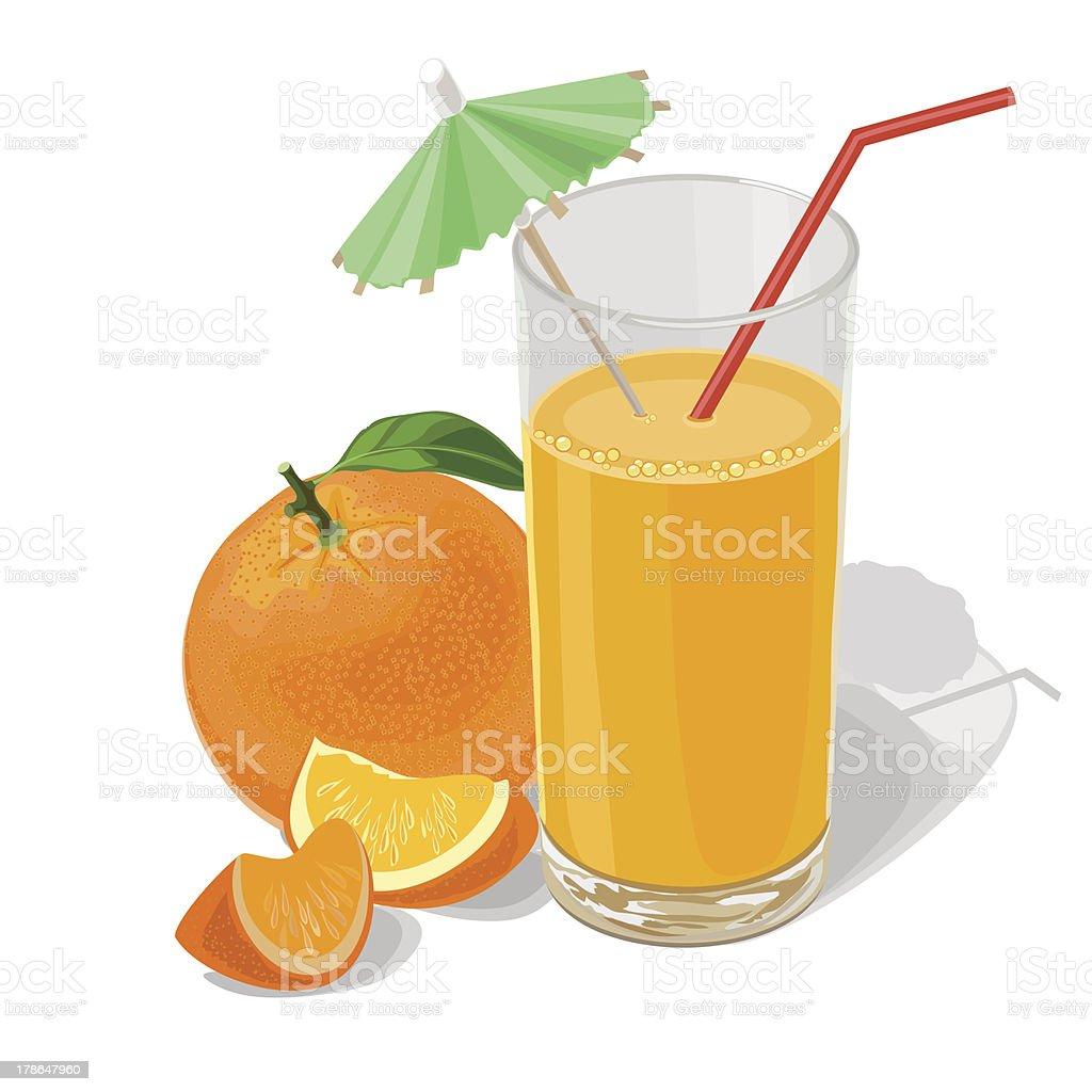 orange and juice royalty-free stock vector art