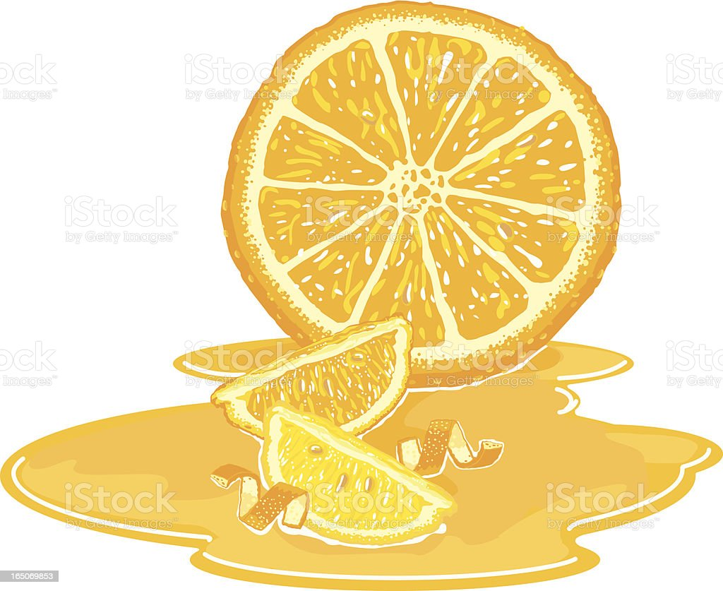 Orange and Lemon Still Life royalty-free stock vector art