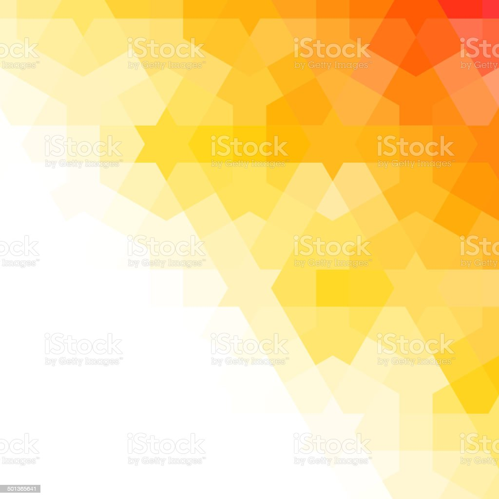 Orange and white arabic background vector art illustration