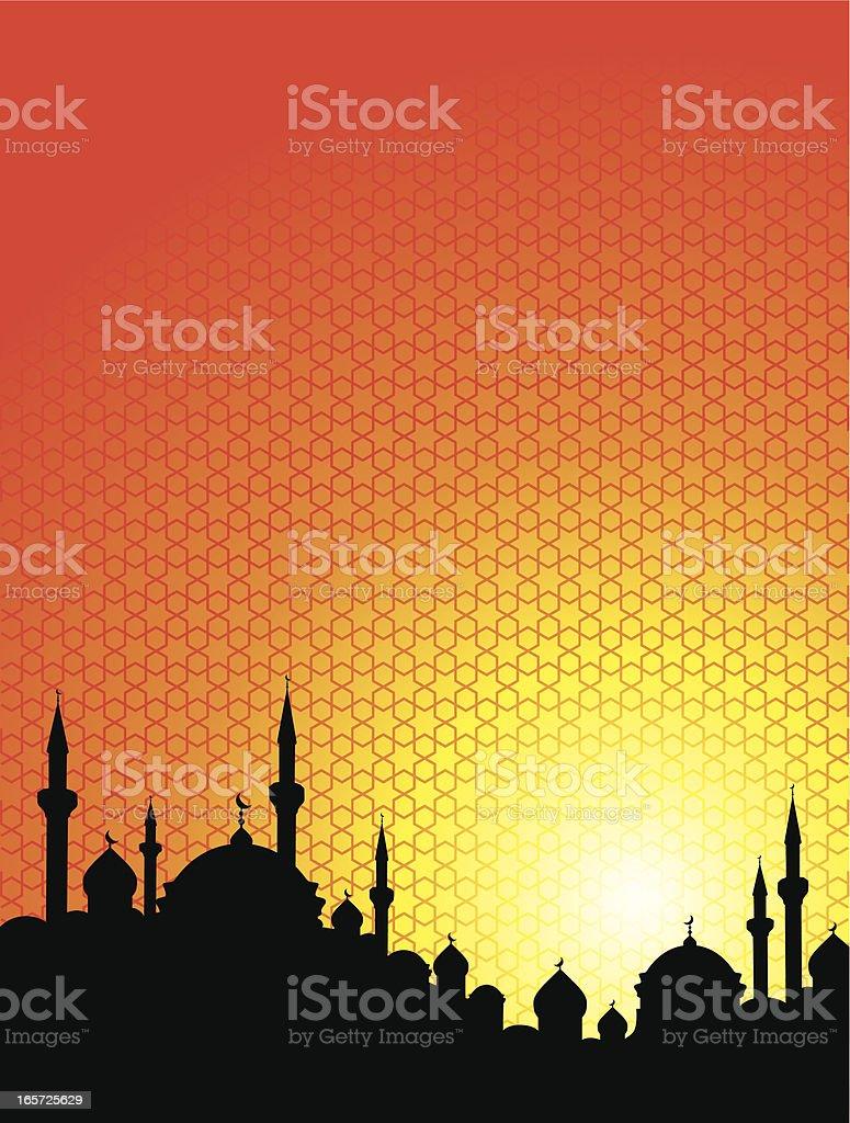 Orange and yellow Arabian Sunrise royalty-free stock vector art