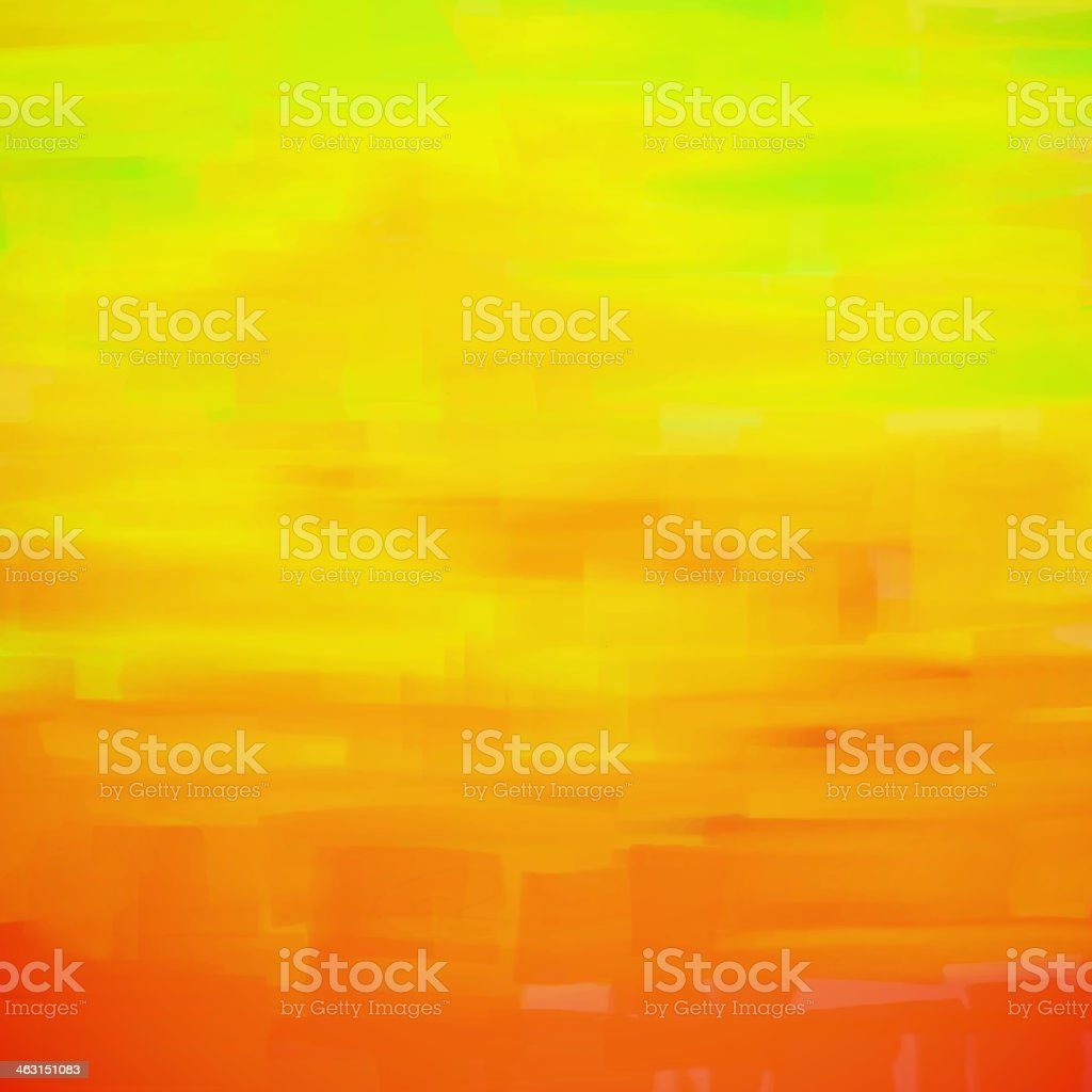 Orange and yellow background painting vector art illustration