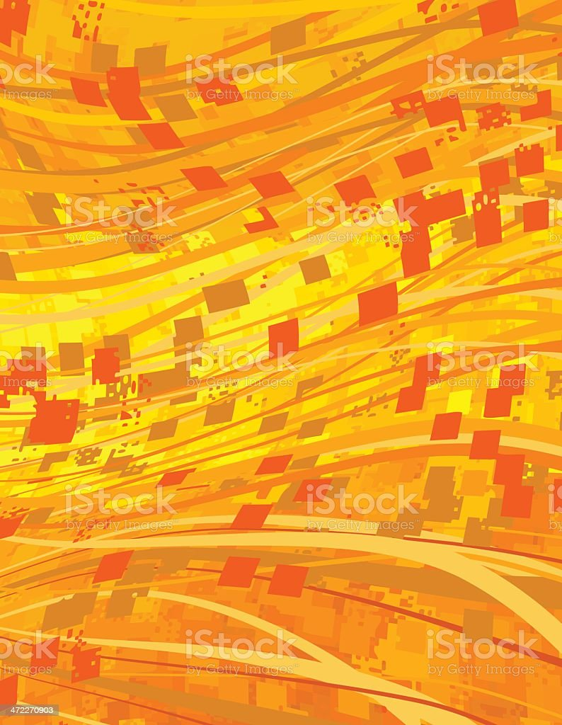 Orange and Yellow royalty-free stock vector art