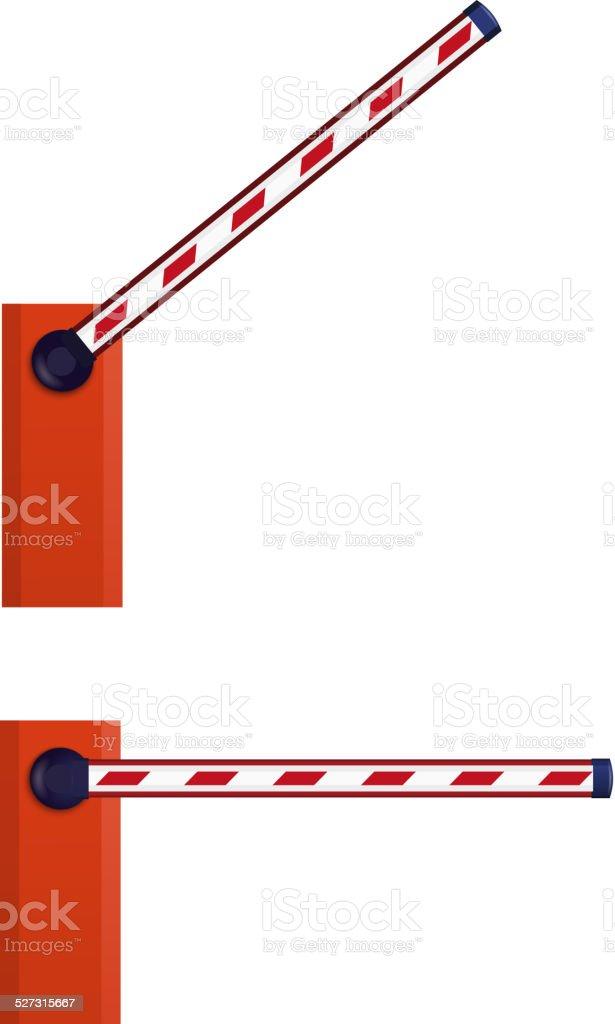 Orange automatic barrier vector art illustration