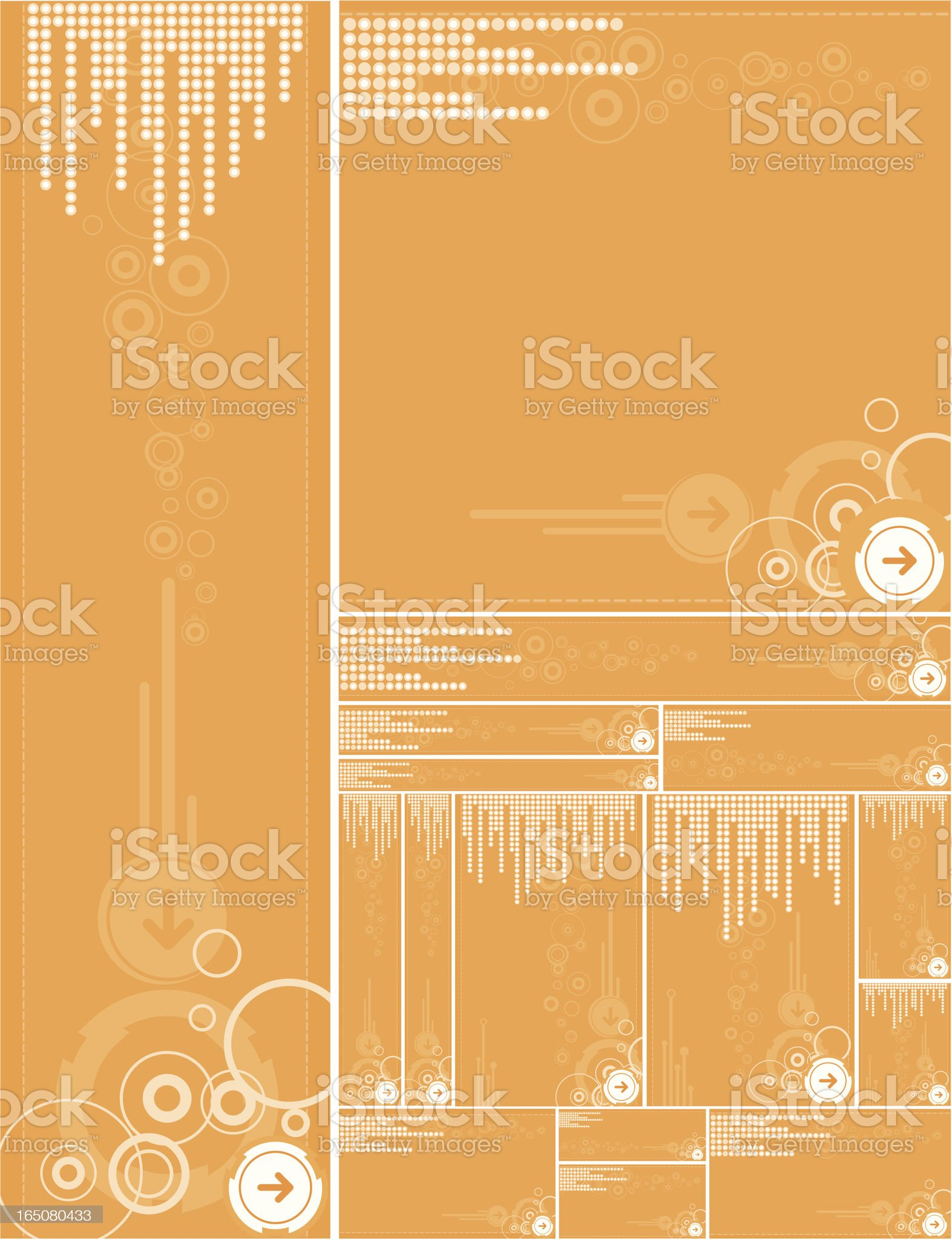Orange background templates royalty-free stock vector art