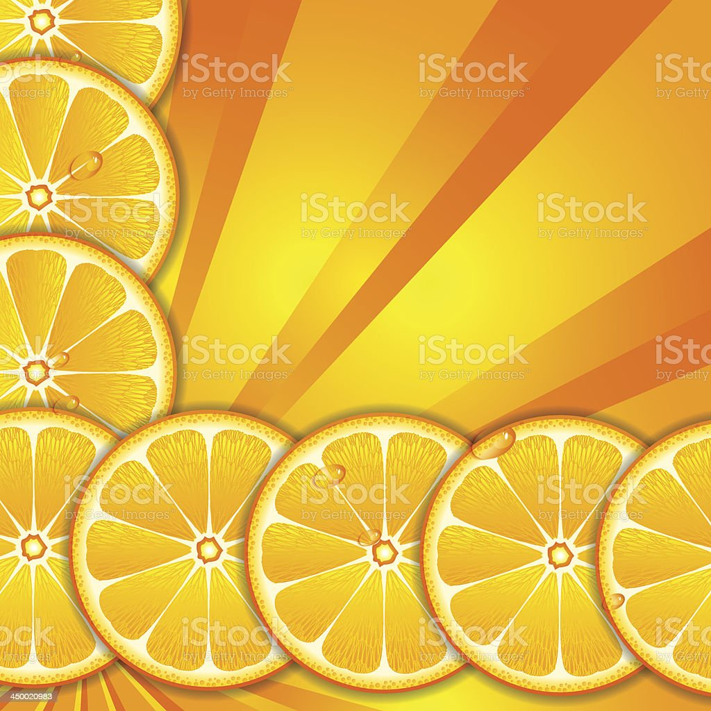 Orange background royalty-free stock vector art