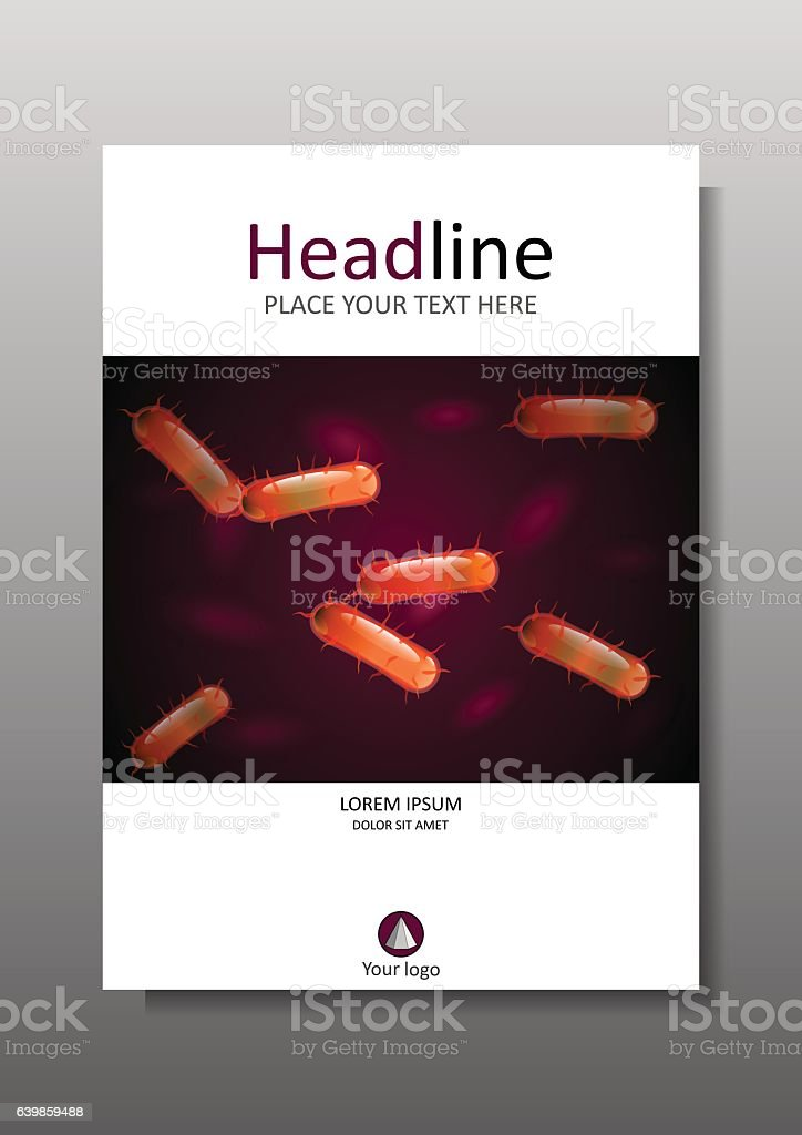 Orange bacteria culture on cover design. Vector. vector art illustration