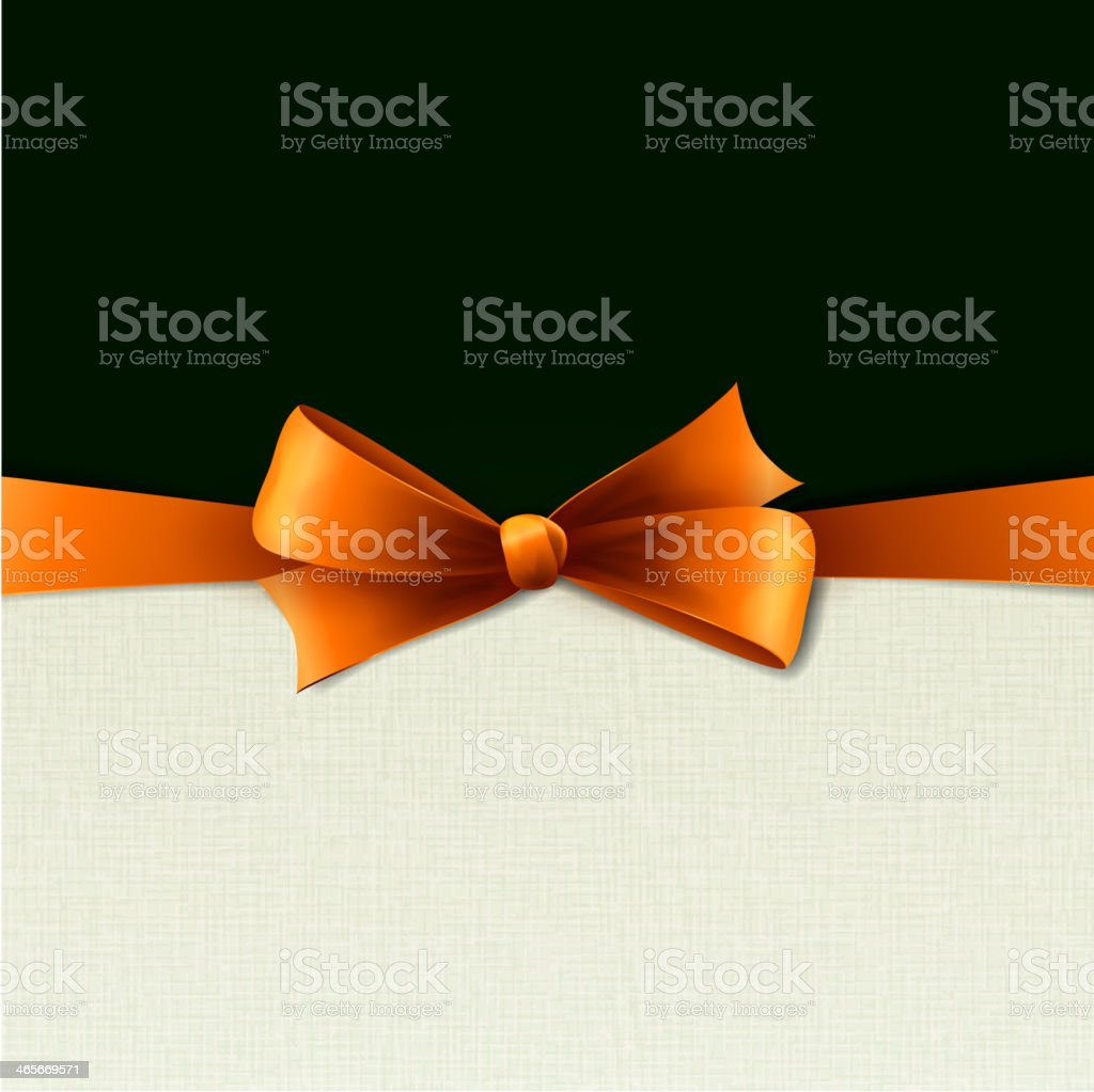 Orange bow in vintage background royalty-free stock vector art