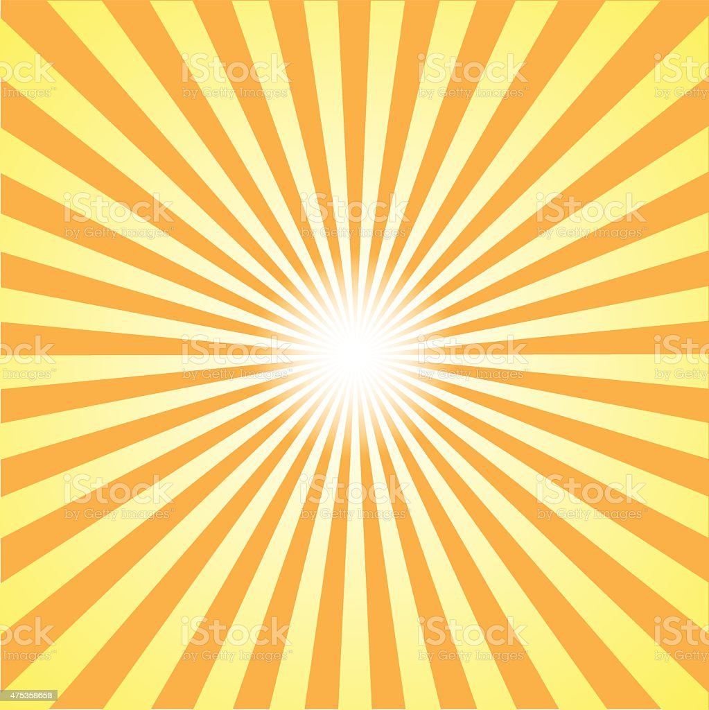 orange burst background. Vector illustration vector art illustration