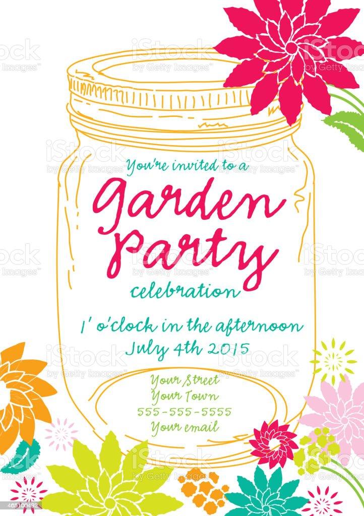 Garden party invitation template northurthwall stopboris Choice Image