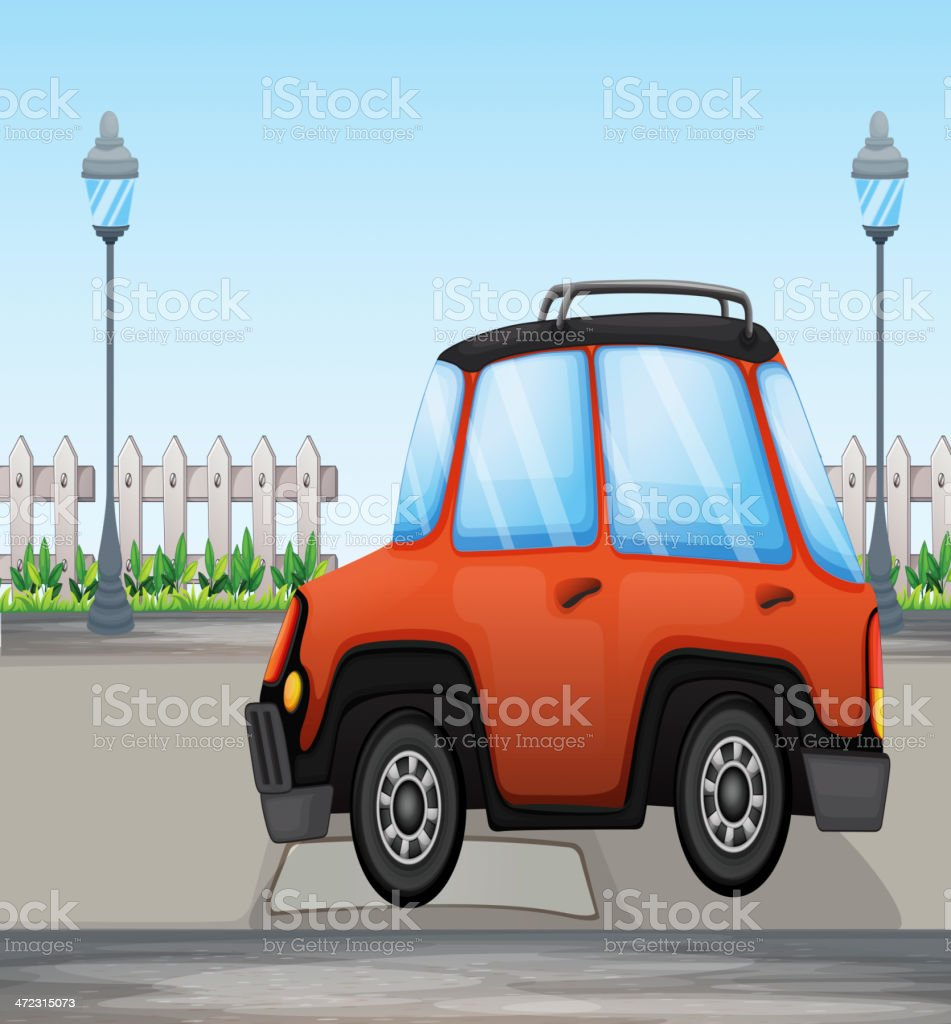 Orange car royalty-free stock vector art