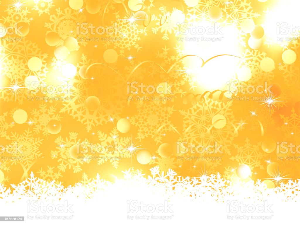 Orange Christmas Background. EPS 8 royalty-free stock vector art