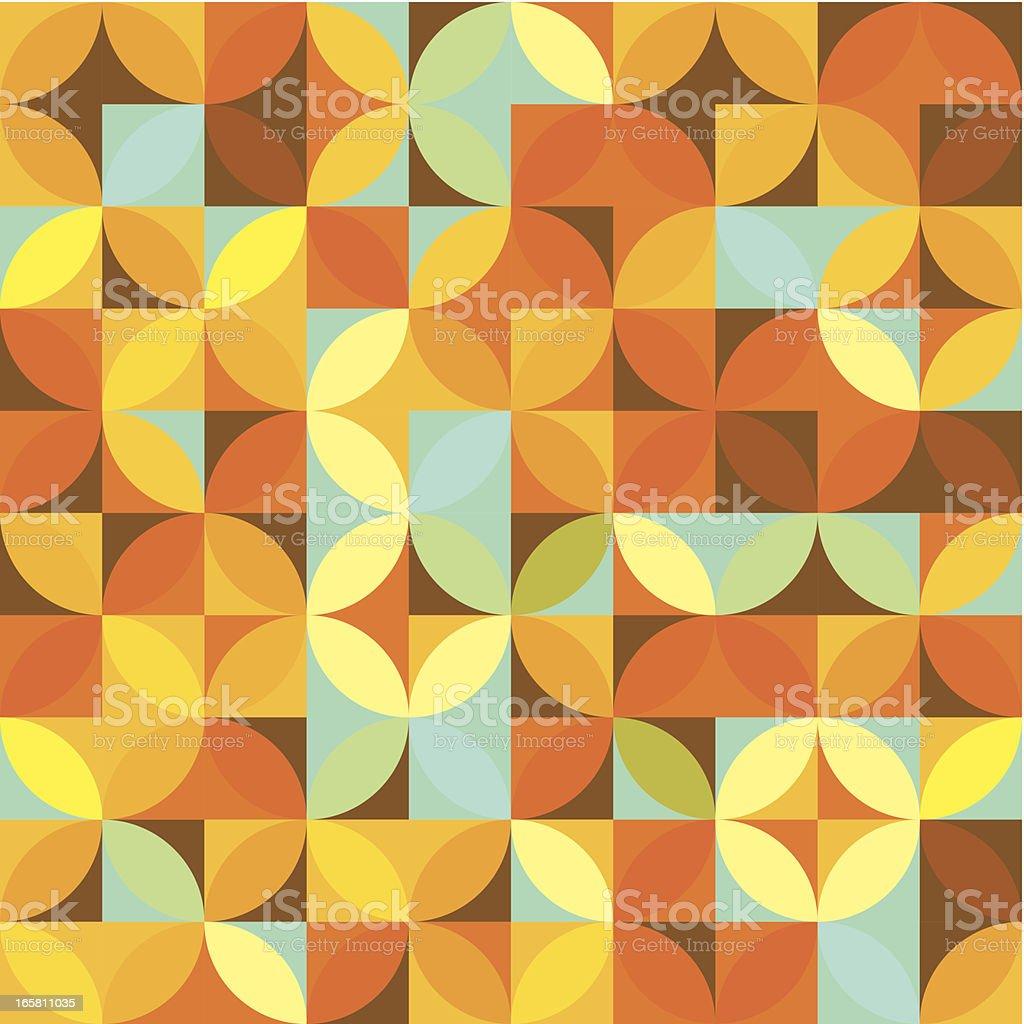 Orange Circle Mosaic Pattern vector art illustration