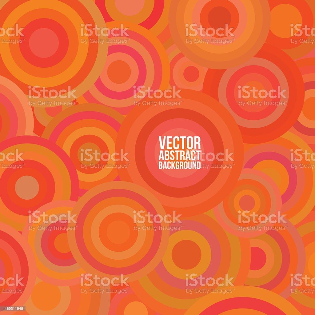 Orange circles vector art illustration